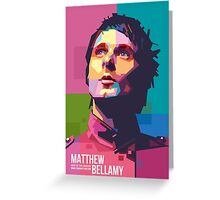 Matthew Bellamy Muse in WPAP Pop Art Greeting Card