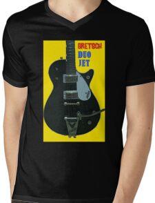 GRETSCH DUO JET Mens V-Neck T-Shirt