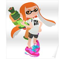 Splatoon Inkling girl Poster