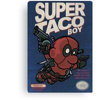 Super Taco Boy Canvas Print