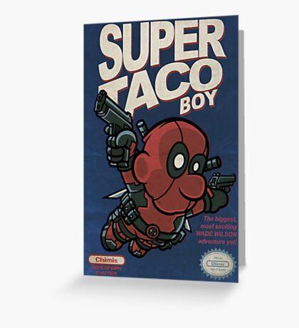 Super Taco Boy Greeting Card