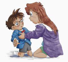 Ran meets Conan digital One Piece - Short Sleeve