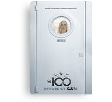 The 100 - Season 2 Poster - Clarke Griffin Canvas Print
