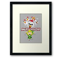 Angry Chickens ! Framed Print