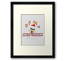 Angry Chickens 2 Framed Print