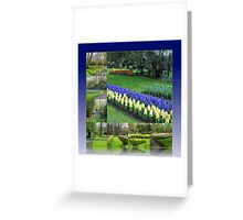 Keukenhof Hyacinths and Tulips Collage Greeting Card