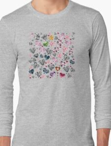 Heart Diamonds are Forever Love Valentines Couple Relationships Girl  Long Sleeve T-Shirt