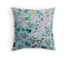 Heart Diamonds are Forever Love Valentines Couple Relationships Girl  Throw Pillow