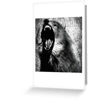 Alpha Wolf Greeting Card