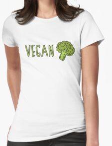 Vegan (Broccoli) Womens Fitted T-Shirt