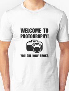 Photography Broke Unisex T-Shirt
