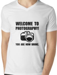 Photography Broke Mens V-Neck T-Shirt