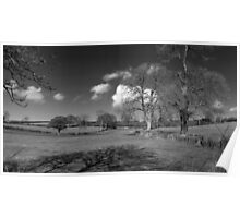 Winter Clouds Roll over the Mendips Poster