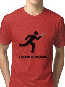 Run With Scissors Tri-blend T-Shirt