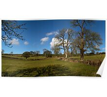 Winter Clouds over the Mendip Hills Poster
