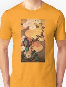 Itō Jakuchū Chrysanthemums by a Stream, with Rocks Unisex T-Shirt