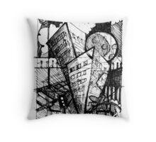 City warps Throw Pillow