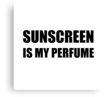 Sunscreen Perfume Canvas Print
