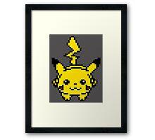 Pikachu Pixel Art Framed Print