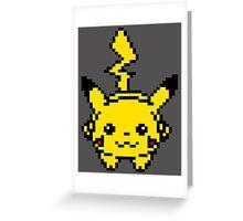 Pikachu Pixel Art Greeting Card
