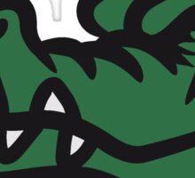 Crocodile funny evil Sticker