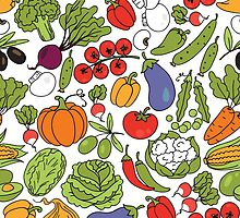 Vegetable Pattern by ginpix