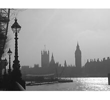Black and White Big Ben  Photographic Print
