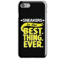 Sneakers is the Best Thing Ever - Yellow iPhone Case/Skin