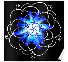 Floral Cage (Blue) Poster