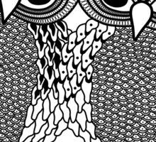 Owls in love black Sticker