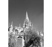 Black and White Oxford  Photographic Print