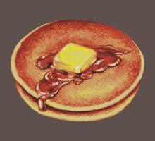 Pancake Pattern One Piece - Short Sleeve