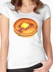 Pancake Pattern Women's Fitted Scoop T-Shirt