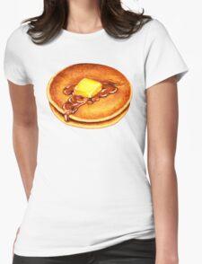 Pancake Pattern Womens Fitted T-Shirt