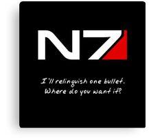 N7 - Renegade Shepard Canvas Print