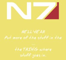 N7 - HELL YEAH One Piece - Short Sleeve