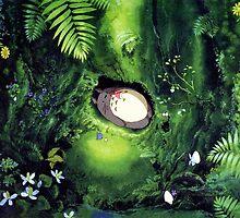 Totoro + Mei Scene --Ghibli by elsa09