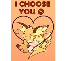 Pokemon Valentines Day Photographic Print