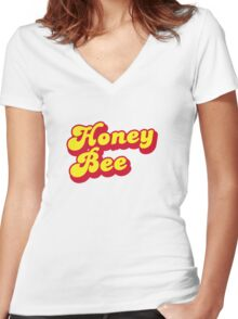 Honey Bee - Beyonce inspired print. Women's Fitted V-Neck T-Shirt