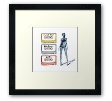 Tape Cassette Music Fashion Vintage Tape Girl legs Colorful Metal Punk Electronic Framed Print