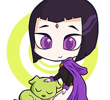Raven and Beast Boy by panchy