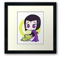 Raven and Beast Boy Framed Print
