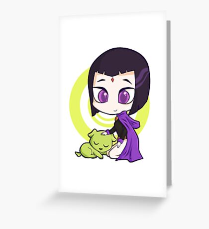 Raven and Beast Boy Greeting Card
