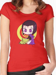 Raven and Beast Boy Women's Fitted Scoop T-Shirt