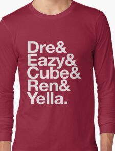 Straight Outta Helvetica Long Sleeve T-Shirt