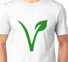 Vegan and Vegetarian Symbol Unisex T-Shirt