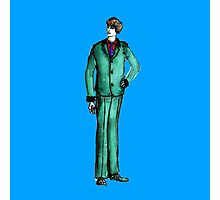 Beetles Green Sport Suit Music Blue Man Male Fashion Photographic Print