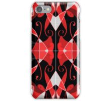 QUEEN of HEARTS red, black and silver design iPhone Case/Skin