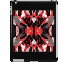 QUEEN of HEARTS red, black and silver design iPad Case/Skin