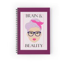 Brain and Beauty  Spiral Notebook
